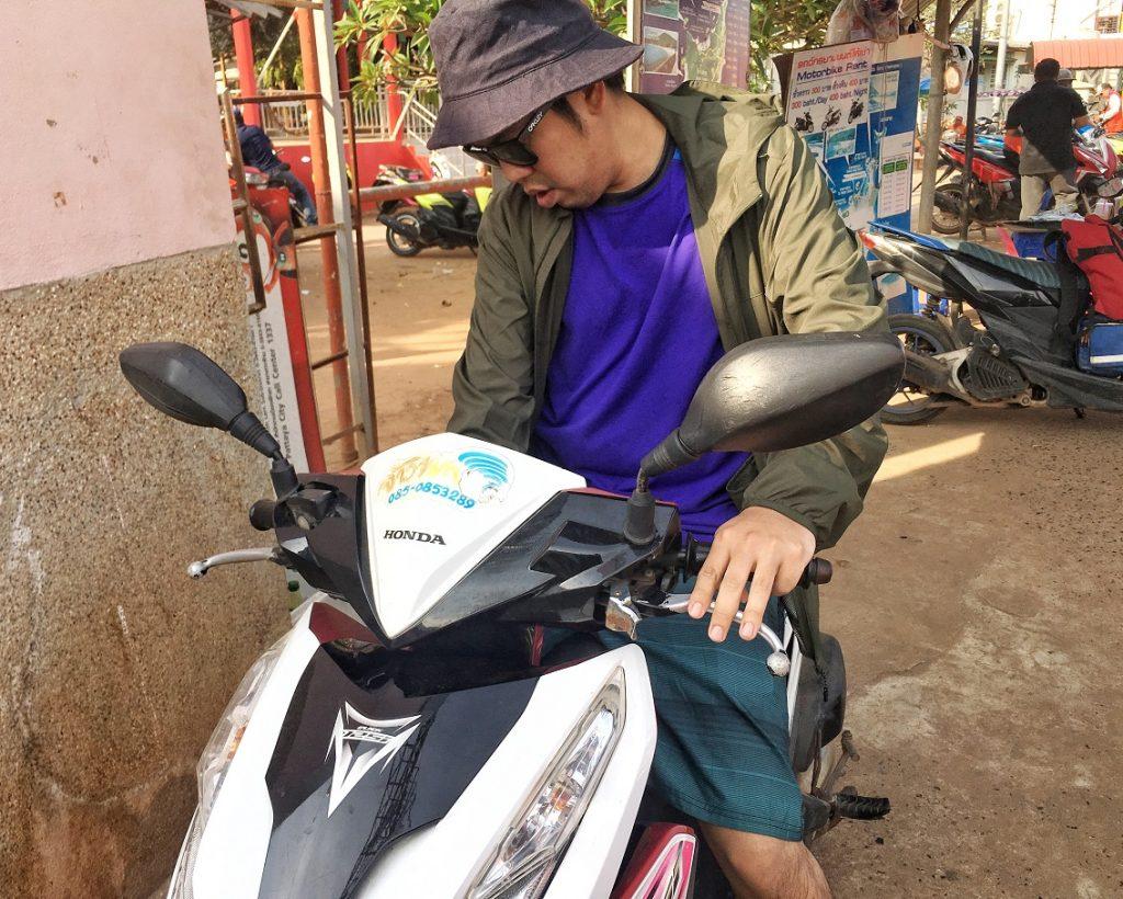 Renting Koh Larn Motorbike