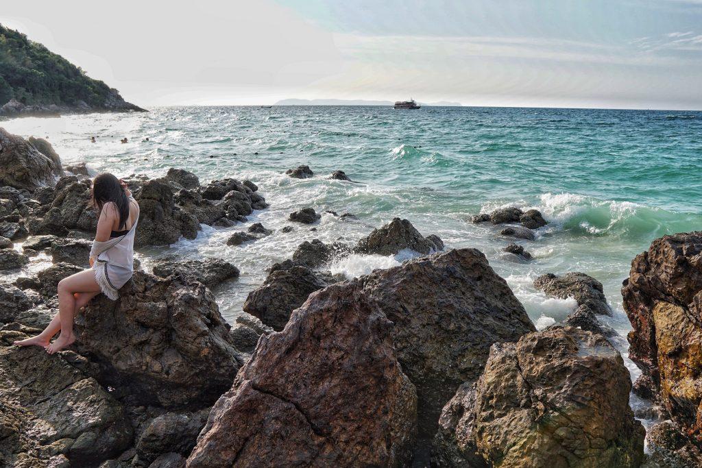 Koh Larn`s Rocky Ta Yai Beach