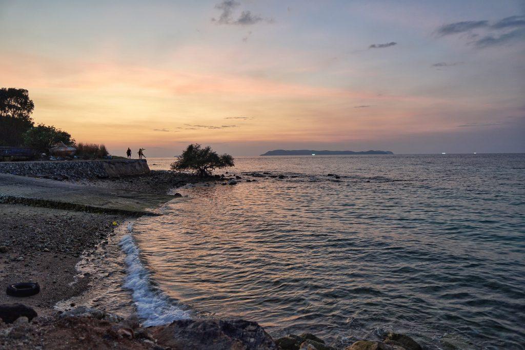 Koh Larn Tien Beach Sunset