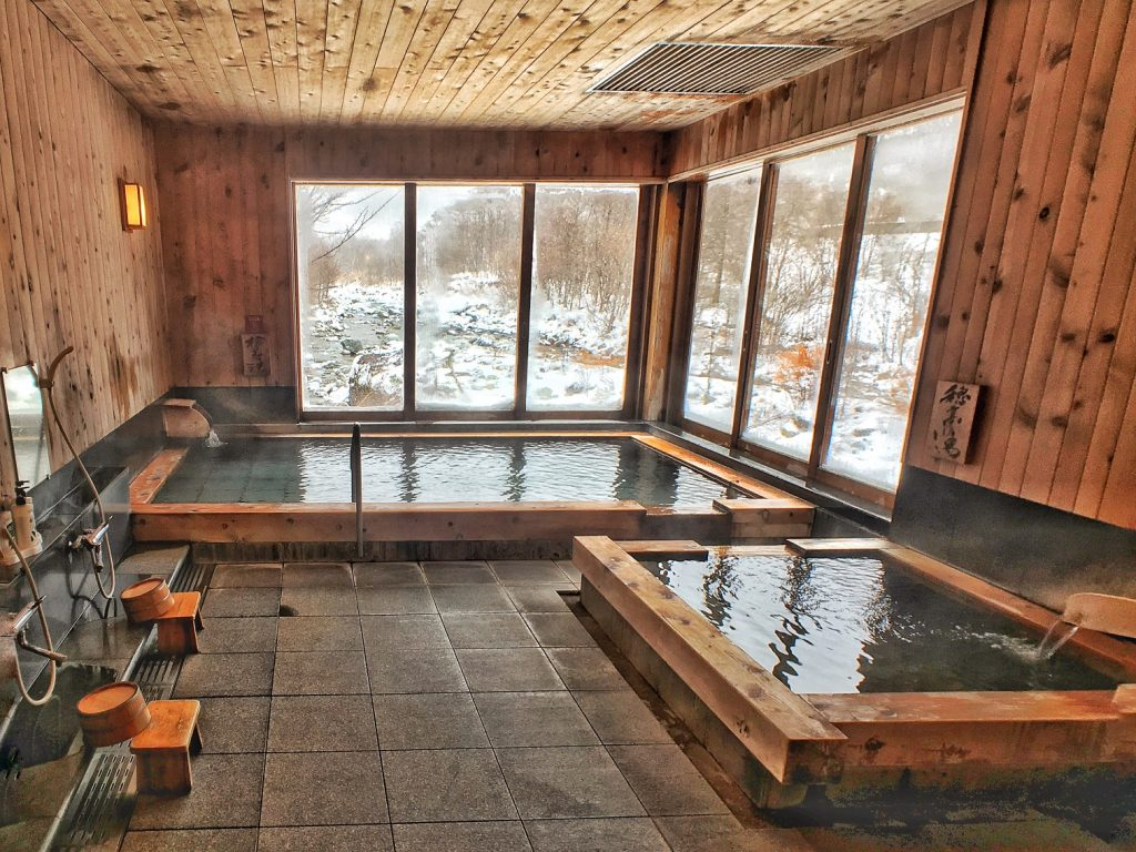Yarimikan Onsen indoor shower
